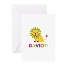 Davion Loves Lions Greeting Cards (Pk of 20)