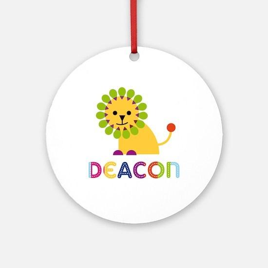 Deacon Loves Lions Ornament (Round)