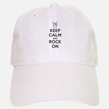 Keep Calm and Rock On Baseball Baseball Baseball Cap