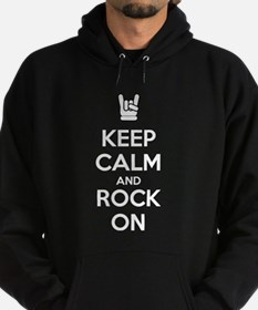 Keep Calm and Rock On Hoodie