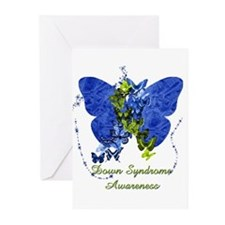 Down Syndrome Awareness Butterfly Greeting Cards (
