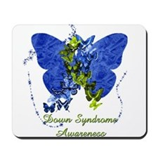 Down Syndrome Awareness Butterfly Mousepad
