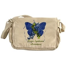 Down Syndrome Awareness Butterfly Messenger Bag