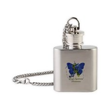 Down Syndrome Awareness Butterfly Flask Necklace
