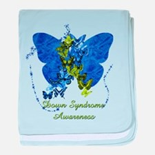 Down Syndrome Awareness Butterfly baby blanket