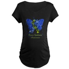 Down Syndrome Awareness Butterfly Maternity T-Shir