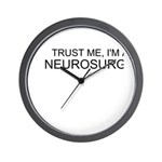Trust Me, Im A Neurosurgeon Wall Clock