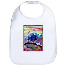 Buffalo, colorful, art! Bib
