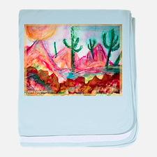 Desert! Southwest art! baby blanket