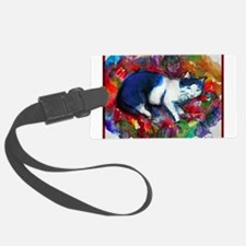 Cat! Colorful, pet, art! Luggage Tag