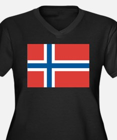 Norwegian Flag Plus Size T-Shirt