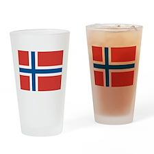 Norwegian Flag Drinking Glass