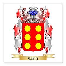 "Castri Square Car Magnet 3"" x 3"""