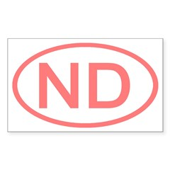 ND Oval - North Dakota Rectangle Decal