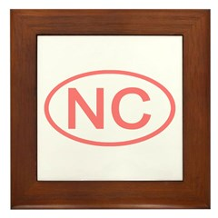 NC Oval - North Carolina Framed Tile