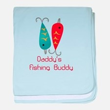 Daddys Fishing Buddy (1) baby blanket