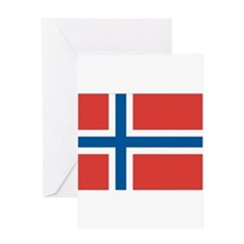 Norwegian Flag Greeting Card