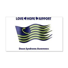 Down Syndrome Support Ribbon - Flag Wall Decal
