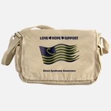 Down Syndrome Support Ribbon - Flag Messenger Bag