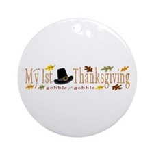 My 1st Thanksgiving Ornament (Round)
