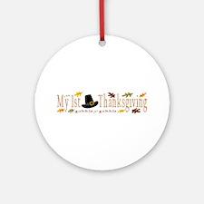 My 1st Thanksgiving Ornament (Round)