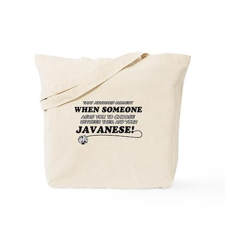 Javanese cat gifts Tote Bag