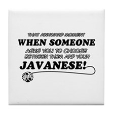 Javanese cat gifts Tile Coaster