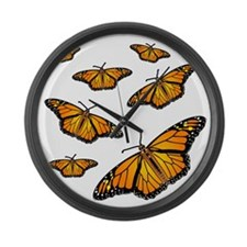Monarch Butterflies Large Wall Clock
