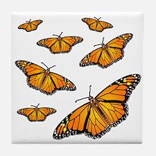 Monarch Butterflies Tile Coaster