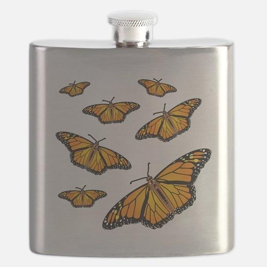 Monarch Butterflies Flask