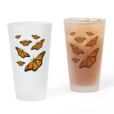 Monarch Butterflies Drinking Glass
