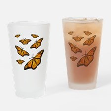 Monarch Butterflies Drinking Glass