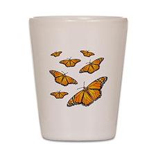 Monarch Butterflies Shot Glass