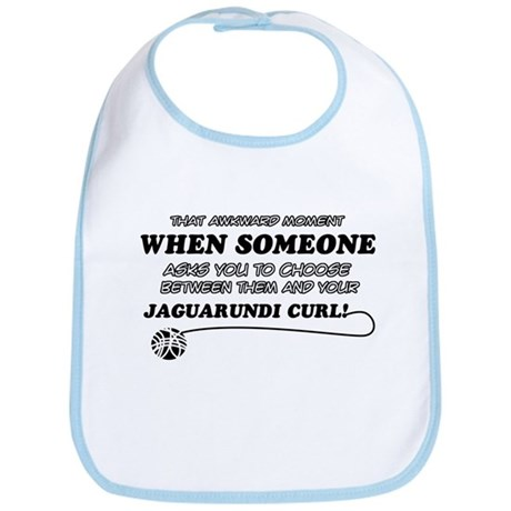 Jaguarundi Curl cat gifts Bib