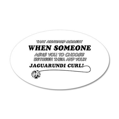 Jaguarundi Curl cat gifts 35x21 Oval Wall Decal