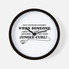 Jungle-Curl cat gifts Wall Clock