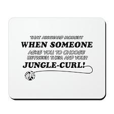 Jungle-Curl cat gifts Mousepad