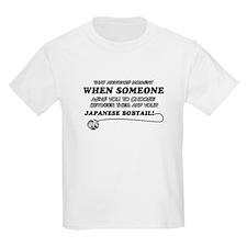Japanese Bobtail cat gifts T-Shirt