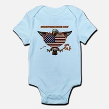 4th of July Eagle Heart Body Suit