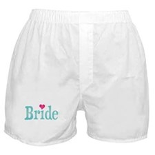 Bride Turquoise Pink Boxer Shorts