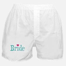 Bride Turquoise Pink Boxer Shorts