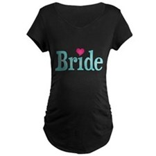 Bride Turquoise Pink Maternity T-Shirt
