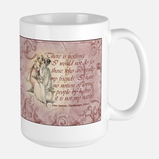 Jane Austen Friends Quote Large Mug