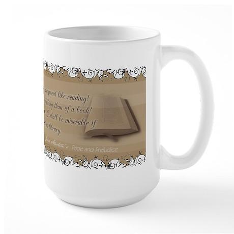 Jane Austen Reading Quote Large Mug
