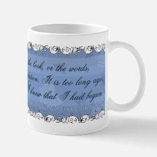 Jane Austen Darcy Quote Mug