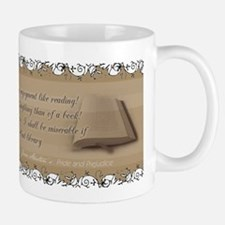 Jane Austen Reading Quote Small Small Mug