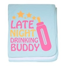 Drinking Buddy baby blanket