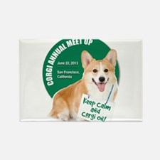SF Corgi Meet Up Rectangle Magnet