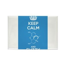 Keep Calm and Fuzzy (Morphine) Rectangle Magnet