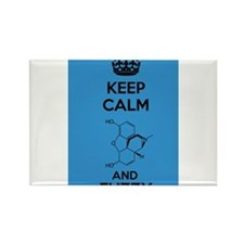 Keep Calm and Fuzzy (Morphine) Black Rectangle Mag